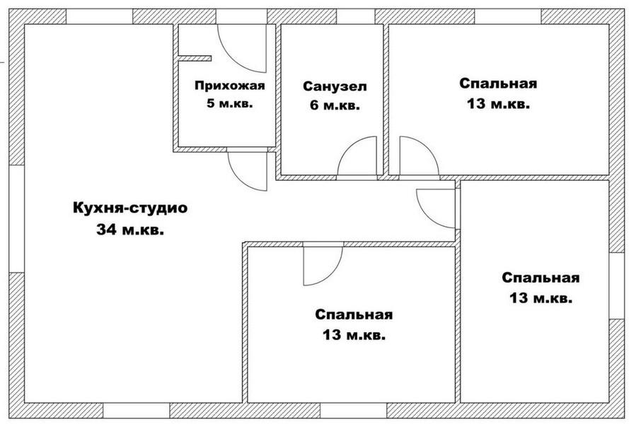 План будинка
