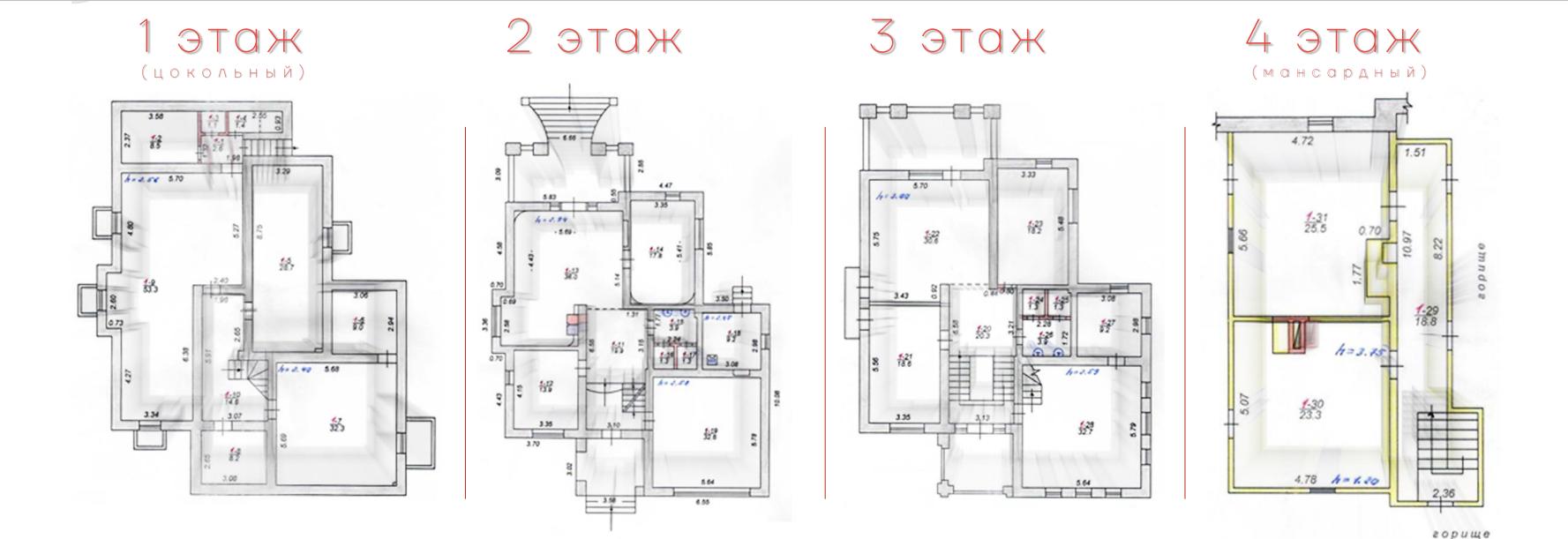 Плани поверхів